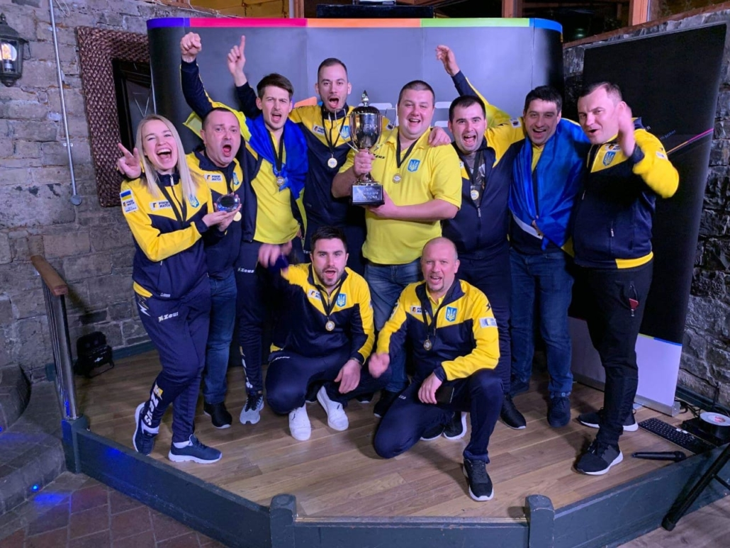Team Ukraine winning the Match Poker Nations Cup, hosted by the IFMP