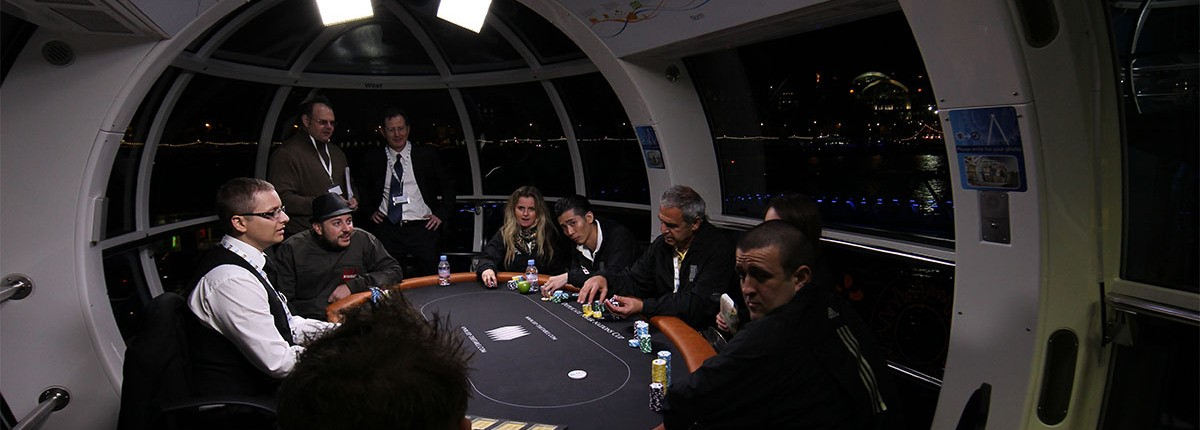The First Match Poker tournament ever held, in the London Eye